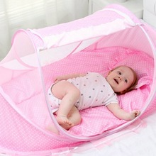 Foldable Infant Baby Kid Child Pop Up Cot Bed Mosquito Fold Net Tent