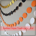 9ft Halloween Black Orange Polka Dots Paper Spots Garland Decoration