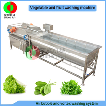 New developed vortex air bubble ozone fruit and vegetable washing machine, advanced vegetable washer for production line