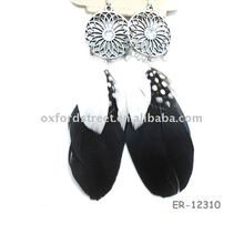 rooster Feather Earring ER-12310