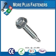 Made in Taiwan DIN 7504 K Color Steel Plate Fixed Water Proofed Hex Head EPDM Washer Self Drilling Screw
