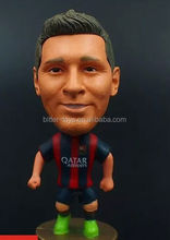 Soccer player man plastic big head football player toys PVC figurines/football player action figure