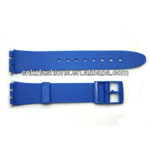 17mm Men's Neon Blue Replacement Watch Band Strap fits SWATCH watches