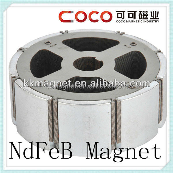 N35/N38/N40/N42/N45/N48/N50/N52 arc shape neodymium monopole magnet with screw hole for rare earth motor