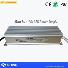 small size high quality Aluminum waterproof ip67 12v 150w led power suply, 150w led driver power smps