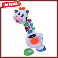 Children musical plastic toy milk cow