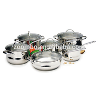 High Performance Potobelo Cookware Set Stainless Steel Italian Cookware