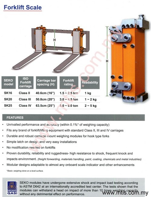 Forklift Weighing Scale