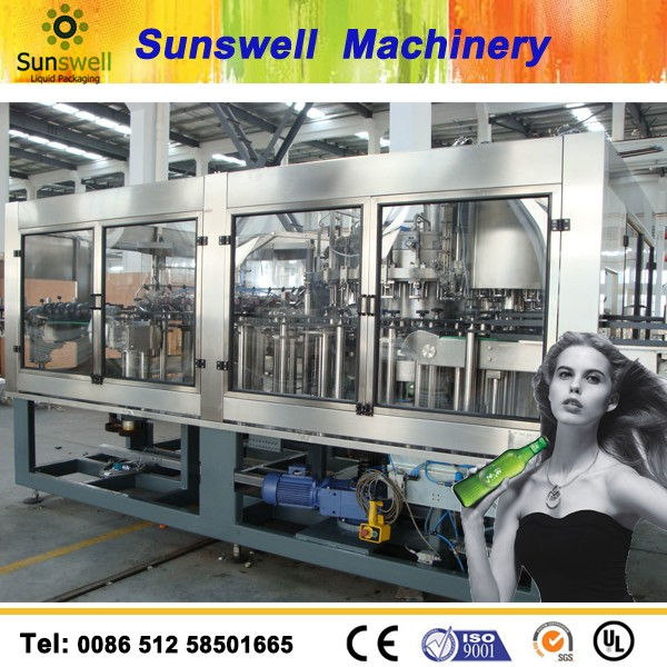 Automatic carbonated beverage can filling machine/beer canning machine