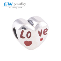 Fashion Wholesale Charms Love Heart Shaped Pendats Charm For Girlfriend