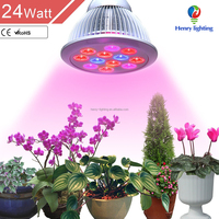 12W/24W E27 par38 Hydroponic LED Plant Grow Lights Growing Lamp for Garden Greenhouse