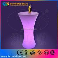 2015 wine barrel bar table / light up bar table / led outdoor furniture china