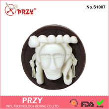 Handmade Hahoe mask silicone soap mold design