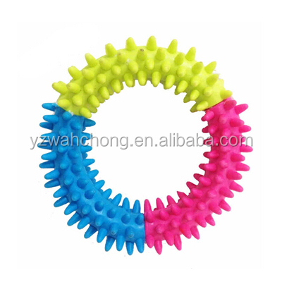 Bright Combined Colors Ring Shape Dog TPR Non-Toxic Chewing Toys
