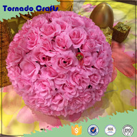2016 wholesale artificial 50cm red wedding flower ball for table center decoration