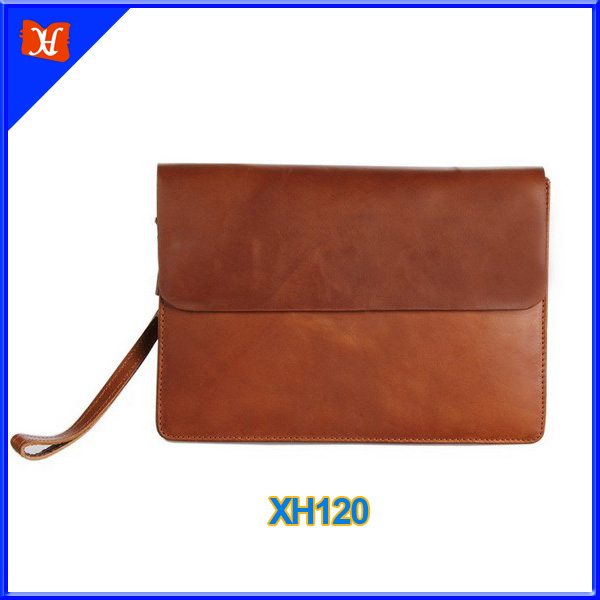 Handmade Genuine Leather Men Clutch Bag Leather Wallet