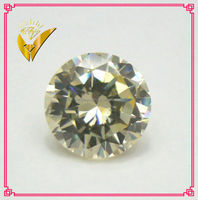 light yellow cz stones AAA machine diamond cut fake diamond