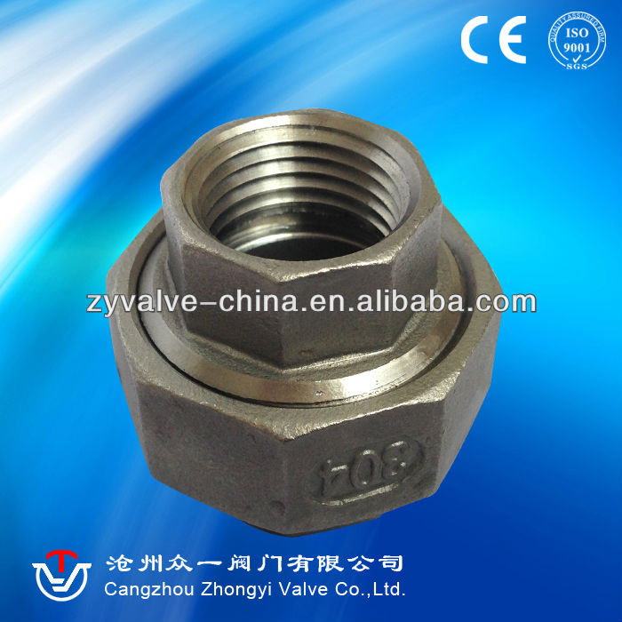 ss screwed pipe fittings CE Approved