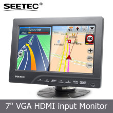 SEETEC 7'' 4-Wire Resistive touchscreen car tft lcd monitor with Stand Bracket