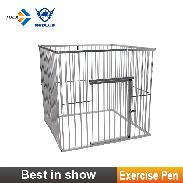 EP/EPH Indoor & Outdoor Square Dog fence Aluminum Dog Exercise Pen Portable and Foldable Dog Play Pen for Show