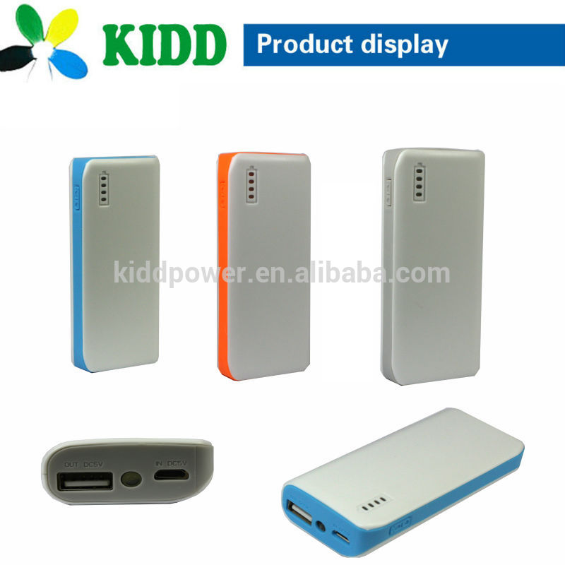led light show battery level 5600mah rechargeable power bank