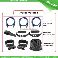Resistance fitness band kit for upper and lower body building with door anchor