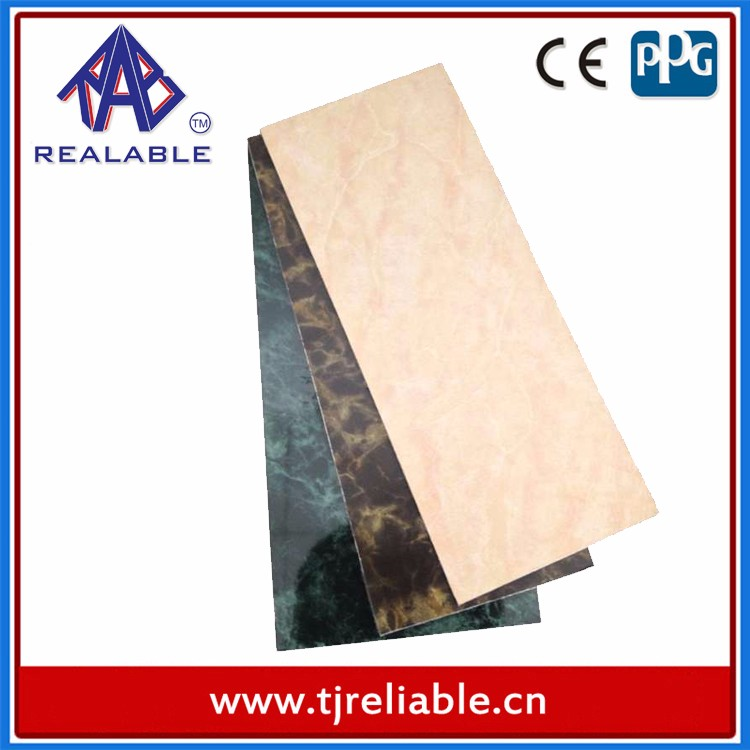 Aluminium and Plastic Composite Panel for Romantic Bedroom Wall Decorations