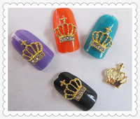 gold imperial crown nail decals metal 3d nail art decoration sticker