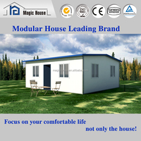 Elegant fast-built corrugated steel panels contemporary prefabricated houses