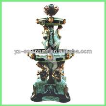 large bronze tiers fountain with children statues