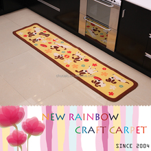 100% Nylon Cats and Dogs Printed Anti-slip Kitchroom Rug