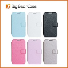Silk texture i8552 leather case flip cover for samsung galaxy win