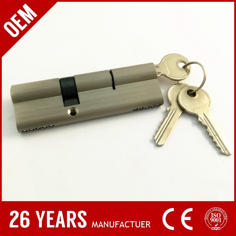 popular sale oxidate aluminium 40mm entrance door handle lock set m5# with DOM