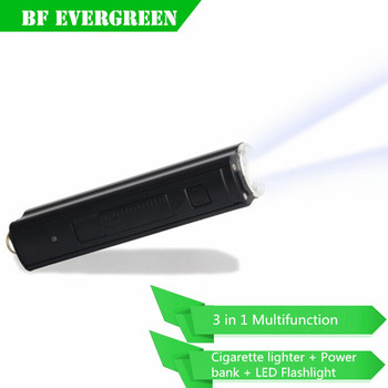 200 Lumen Multipurpose Outdoor LED Cigarette Lighter Light Flashlight Power Bank