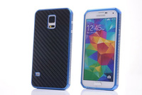 Aluminum Housing Case With Metal Frame & Fiber Carbon Back For Samsung Galaxy S5 I9600