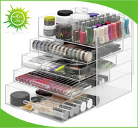 Large Acrylic Makeup Organizer with Drawers Cosmetic Organizer