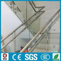 stainless steel tempered glass stairs railing designs for home decoration