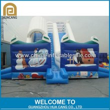 Cartoon snow theme inflatable slide for kids