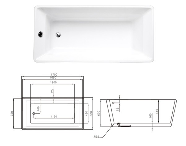 rectangle portable walk in bathtub sizes