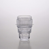 Unique High Quality Glassware Screw Style Hiball Water Glass Cup