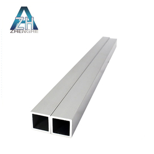 Factory direct sale 6063 t5 t6 rectangular aluminium square tube standard size