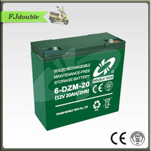 Low price high quality electric scooter bike bicycle battery 12v 20ah 6-DZM-20 lead acid rechargeable batteries