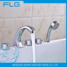 FLG 601 wholesale 5 holes bathtub pull out upc basin tap set hot sell faucet