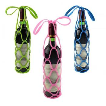 Eco-Friendly Silicone Barware Wine Bottle Carrier