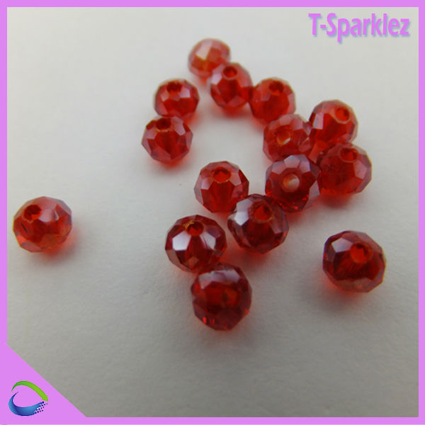 Top quality Wholesale Siam Jewelry Crystal bead in bulk for jewelry