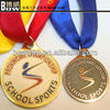 2015 new fashion hanging /metal brass embossed sports medal