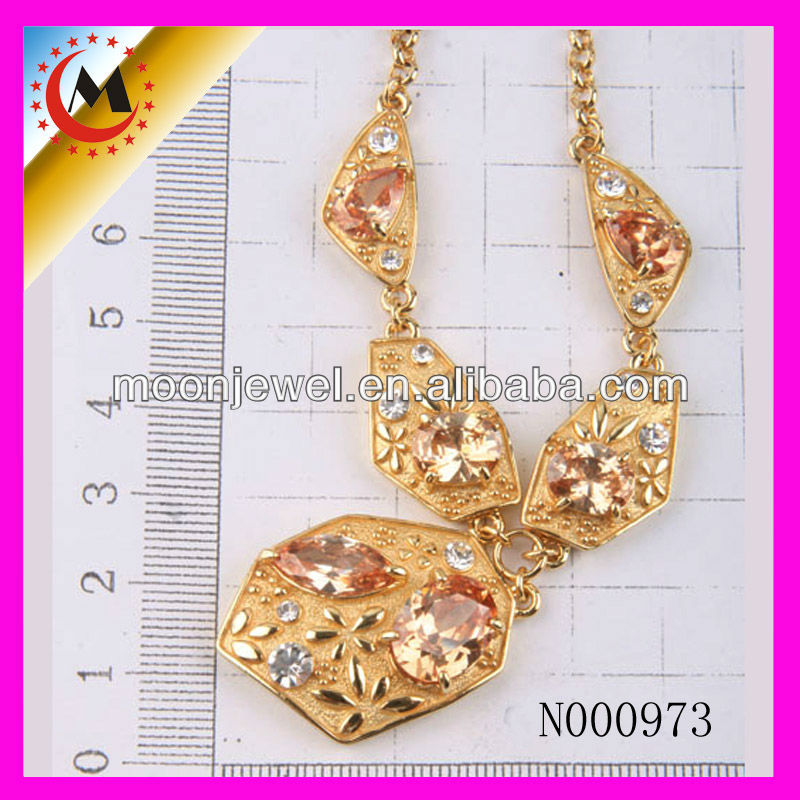 BEAUTIFUL GOLD BALL NECKLACE DESIGN ,2015 WOMEN FASHION 24K GOLD NECKLACE