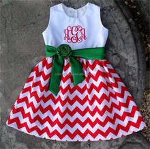 Frock design children party dress sleeveless chevron lap dress for baby