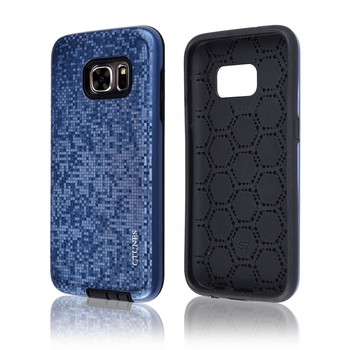 C&T Shock Absorption Dual Layer Heavy Duty Protective Silicone TPU Plastic Cover Case for Samsung Galaxy S7