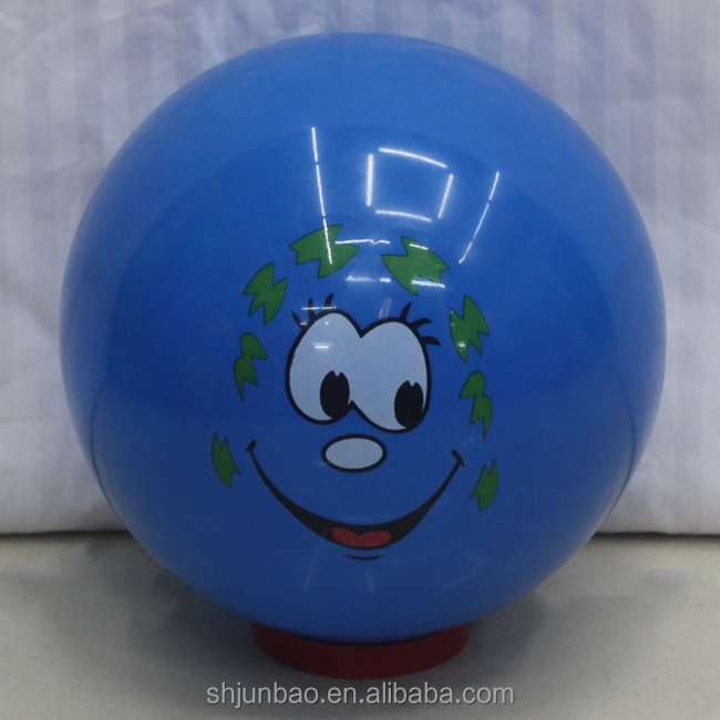 Inflatable Plastic Sticker Toy Ball With Logo Print